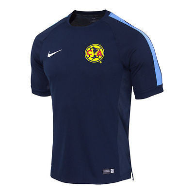 NIKE CLUB AMERICA SQUAD TRAINING TOP OBSIDIAN/BLUE