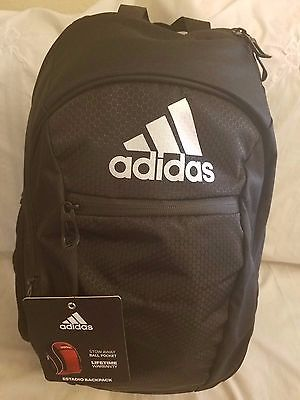 ADIDAS ESTADIO IV TEAM BACKPACK BALL CARRIER Black/Metallic Silver.
