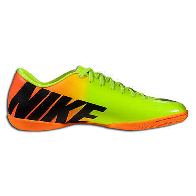 fbeb554c1 ... NIKE MERCURIAL VICTORY IV IC INDOOR SOCCER SHOES FOOTBALL Volt/Bright  Citrus/Bla ...