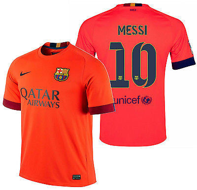 NIKE LIONEL MESSI FC BARCELONA AWAY JERSEY 2014/15