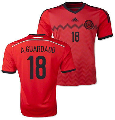 ADIDAS A. GUARDADO MEXICO AWAY JERSEY FIFA WORLD CUP BRAZIL 2014.