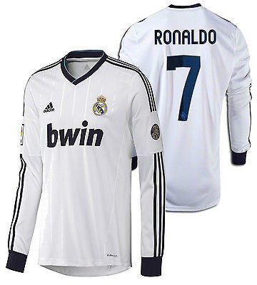 ADIDAS C. RONALDO REAL MADRID LONG SLEEVE HOME JERSEY 2012/13