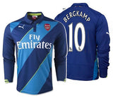 PUMA DENNIS BERGKAMP ARSENAL LONG SLEEVE THIRD JERSEY 2014/15.