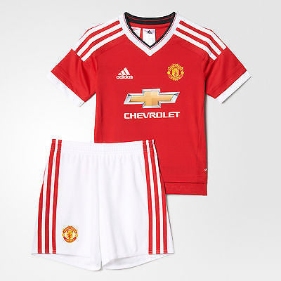 ADIDAS MANCHESTER UNITED HOME MINI KIT 2015/16.