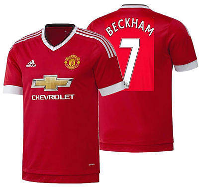 ADIDAS D. BECKHAM MANCHESTER UNITED AUTHENTIC PLAYER HOME ADIZERO JERSEY 2015/16