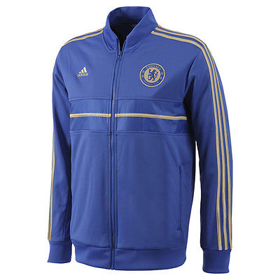 ADIDAS CHELSEA FC ANTHEM JACKET Reflex Blue/Gold 1