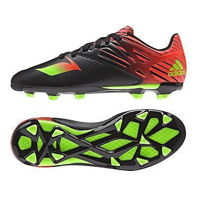 ADIDAS MESSI 15.3 FG/AG FIRM GROUND / ARTIFICIAL GROUND YOUTH SOCCER SHOES Core Black