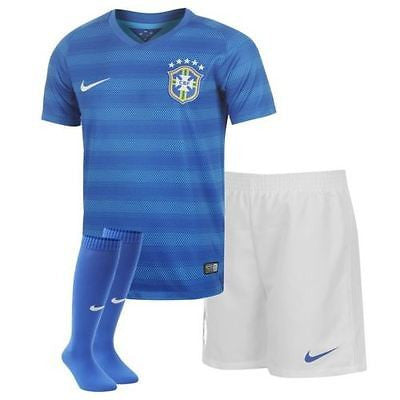 NIKE BRAZIL LITTLE BOYS AWAY KIT FIFA WORLD CUP BRASIL 2014