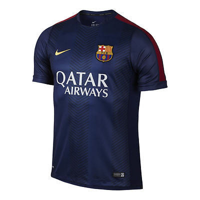 NIKE FC BARCELONA SQUAD PRE MATCH TOP FOOTBALL Loyal Blue/Red