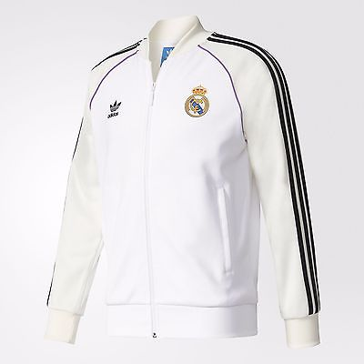 ADIDAS ORIGINALS REAL MADRID TRACK JACKET White/Black.