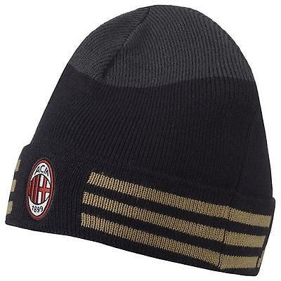 ADIDAS AC MILAN 3-STRIPES BEANIE BLACK/GOLD