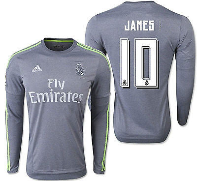ADIDAS JAMES RODRIGUEZ REAL MADRID LONG SLEEVE AWAY JERSEY 2015/16