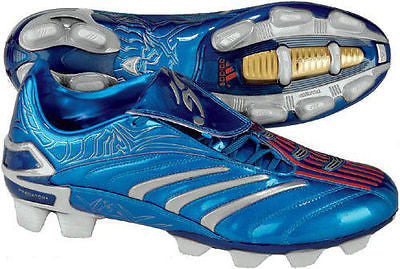 ADIDAS DAVID BECKHAM +PREDATOR ABSOLUTE TRX FG FIRM GROUND SOCCER SHOES METALLIC BLUE/SILVER.