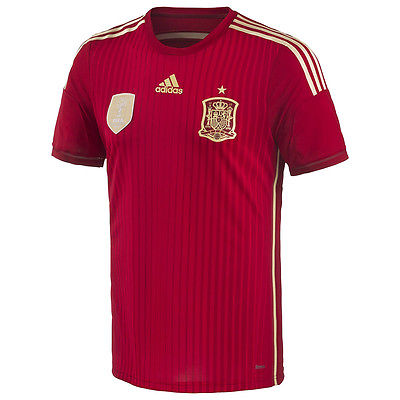 ADIDAS SPAIN AUTHENTIC ADIZERO HOME MATCH JERSEY FIFA WORLD CUP 2014 1