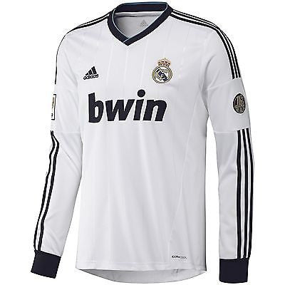 ADIDAS REAL MADRID LONG SLEEVE HOME JERSEY 2012/13
