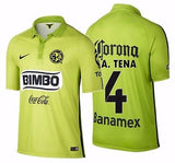 NIKE ALFREDO TENA CLUB AMERICA THIRD JERSEY 2015 Atomic Green