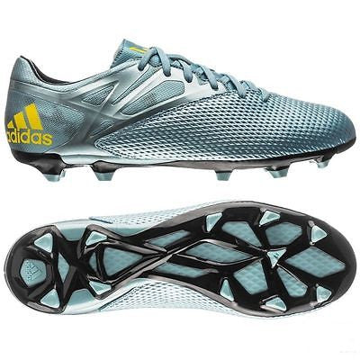 timeless design 8b85e 94959 ADIDAS MESSI 15.3 FG FIRM GROUND YOUTH SOCCER SHOES Ice Bright Yellow Core  Bla