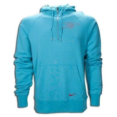 NIKE ARSENAL AUTHENTIC AW77 HOODIE Aqua/Red.