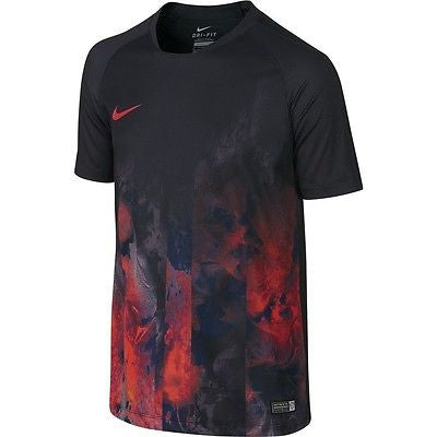 NIKE CR7 GRAPHIC YOUTH TRAINING TOP Black.