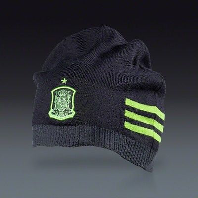 ADIDAS SPAIN 3-STRIPES BEANIE BLACK/LIME 1