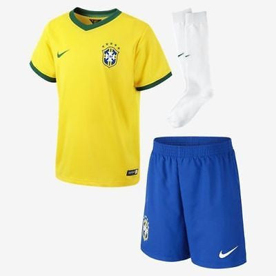 NIKE BRAZIL LITTLE BOYS HOME KIT FIFA WORLD CUP BRASIL 2014