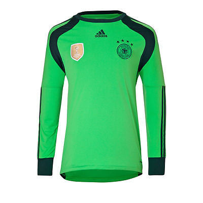 ADIDAS GERMANY GOALKEEPER HOME JERSEY FIFA WORLD CUP 2014  4 STAR CHAMPIONS