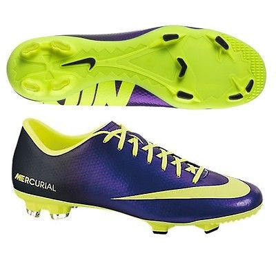 reputable site dc290 f9c9f NIKE MERCURIAL VICTORY IV FG FIRM GROUND SOCCER CR7 SHOE FOOTBALL Electro  Purple