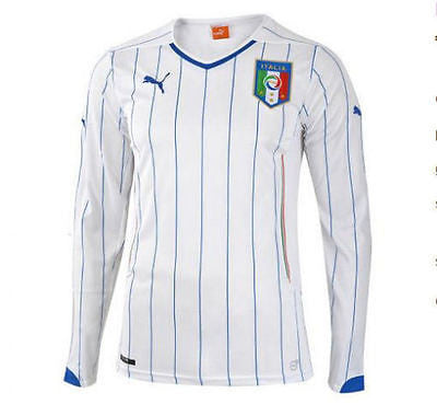 PUMA ITALY LONG SLEEVE AWAY JERSEY FIFA WORLD CUP BRAZIL 2014.