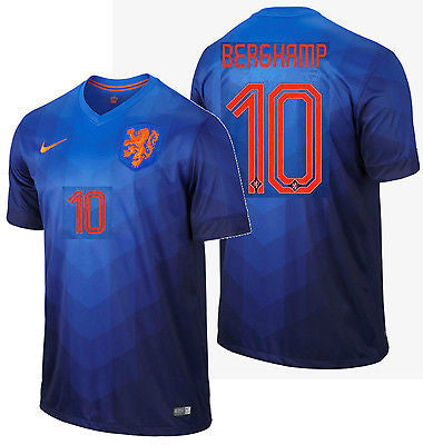 NIKE DENNIS BERGKAMP NETHERLANDS AWAY JERSEY WORLD CUP BRAZIL 2014 HOLLAND DUTCH