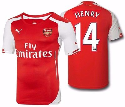 PUMA THIERRY HENRY ARSENAL AUTHENTIC PLAYERS MATCH HOME JERSEY 2014/15.