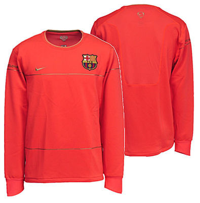 NIKE FC BARCELONA LIGHTWEIGHT LONG SLEEVE TRAINING TOP Crimson/Gold 1