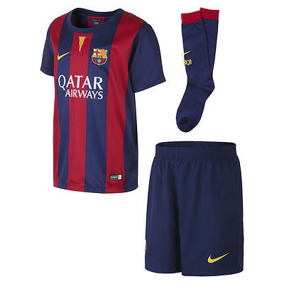 NIKE FC BARCELONA LITTLE BOYS HOME KIT 2014/15.
