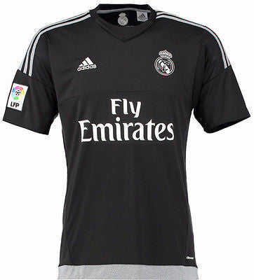 ADIDAS REAL MADRID YOUTH GOALKEEPER HOME JERSEY 2015/16