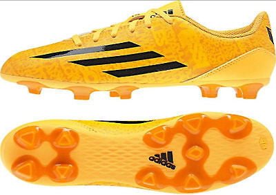 ADIDAS MESSI F5 TRX FG JUNIOR FIRM GROUND YOUTH SOCCER SHOES BOYS Solar Gold/Black