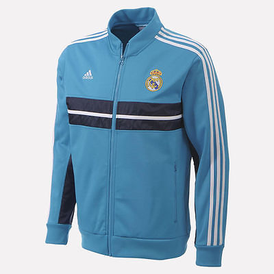 ADIDAS REAL MADRID ANTHEM JACKET Turquoise/Navy.