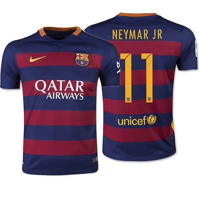 NIKE NEYMAR JR FC BARCELONA HOME YOUTH JERSEY 2015/16 1