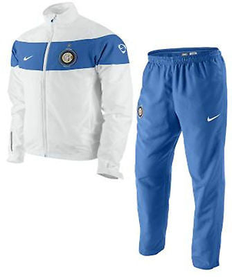 NIKE INTER MILAN WOVEN STATEMENT WARM UP TRACKSUIT White/Blue.