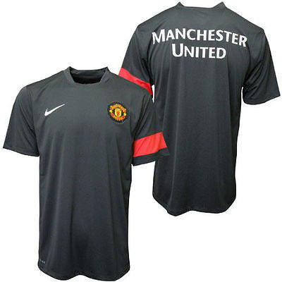 NIKE MANCHESTER UNITED PRE MATCH TOP Black/Red.