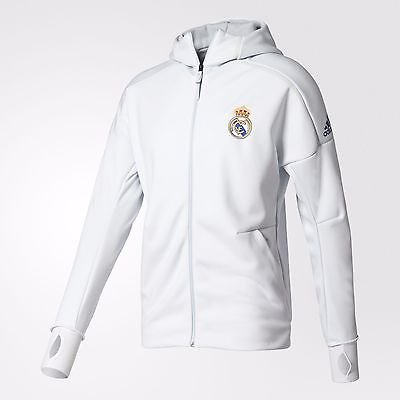 ADIDAS REAL MADRID ANTHEM Z.N.E. HOODIE ZNE White.