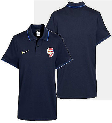 NIKE ARSENAL TRAVEL POLO SHIRT Dark Obsisdian/Blue Ribbon.