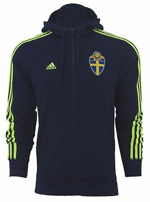ADIDAS SWEDEN 3 STRIPES FULL ZIP HOODIE Navy.
