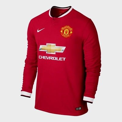 66eb4e919 Nike Manchester United Long Sleeve Home Jersey 2014/15 611038-624