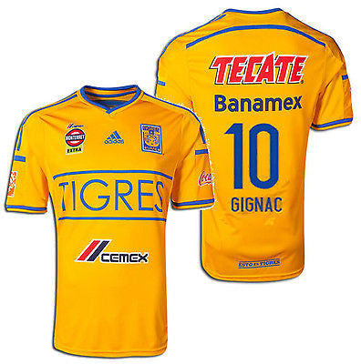 ADIDAS TIGRES UANL ANDRE-PIERRE GIGNAC HOME JERSEY 2014/15
