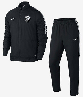 NIKE AS ROMA SQUAD SIDELINE WOVEN WARM UP TRACKSUIT Black/Black/Wolf Grey/Wolf G