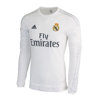 ADIDAS REAL MADRID LONG SLEEVE HOME JERSEY 2015/16 3