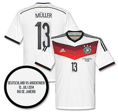ADIDAS GERMANY THOMAS MULLER FINAL DETAIL JERSEY FIFA WORLD CUP BRAZIL 2014