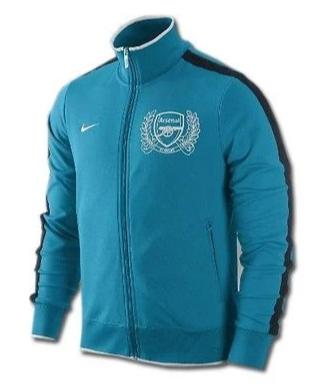 NIKE ARSENAL AUTHENTIC N98 JACKET Turquoise/White.