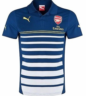 PUMA ARSENAL LEISURE HOOPED POLO SHIRT Navy/Gray.