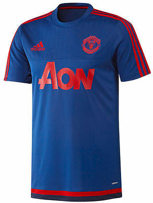 ADIDAS MANCHESTER UNITED TRAINING JERSEY 2015/16 Blue/Red.