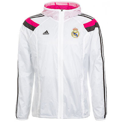ADIDAS REAL MADRID ANTHEM WOVEN JACKET White/Pink.